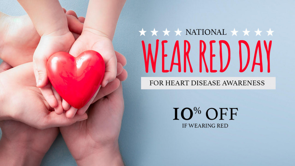 National Wear Red Day - 10% If You Wear Red!