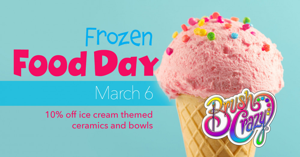 National Frozen Food Day! 10% Off Ice Cream Ceramics and Bowls!