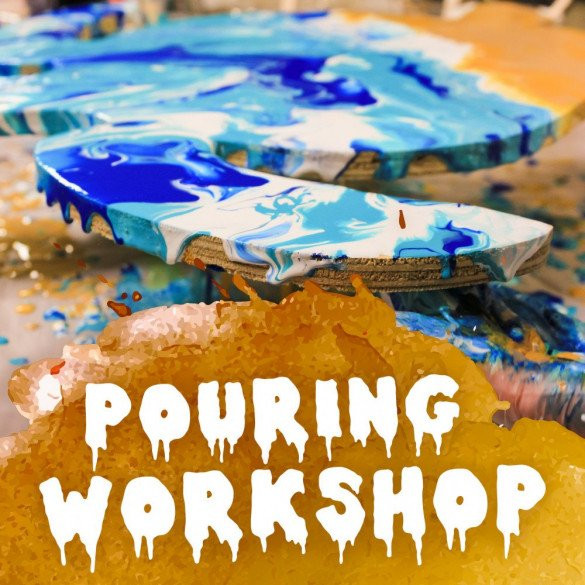 Paint Pouring Workshop for kids! 7-8 yr olds