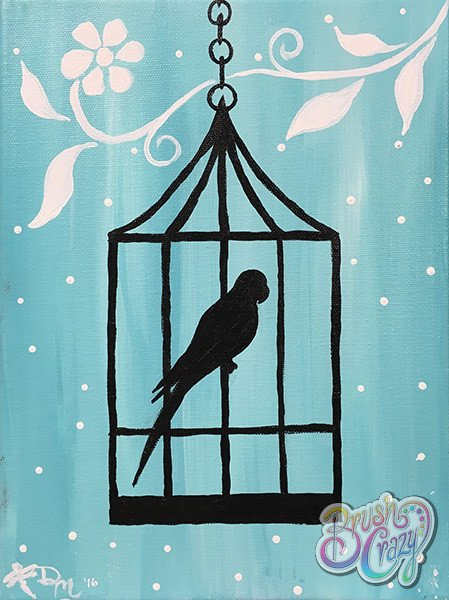 Bird Cage with White Flower - For Kids!