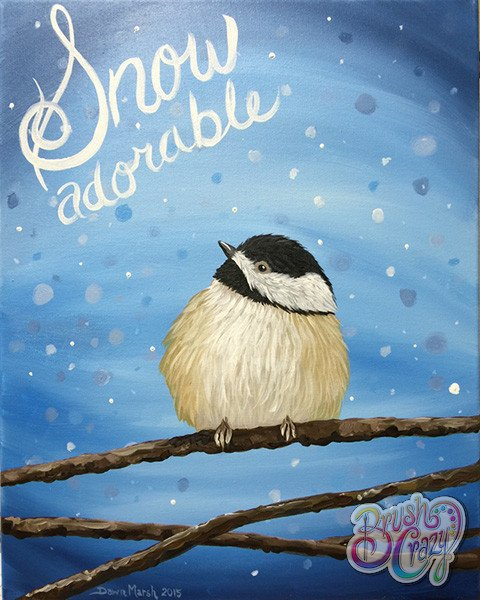 Chickadee Snow Adorable