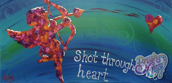 Cupid Shot through the heart