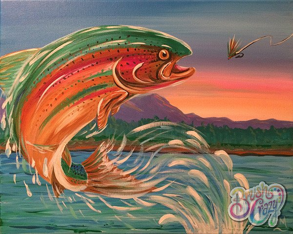 Fish Rainbow Trout Jumping