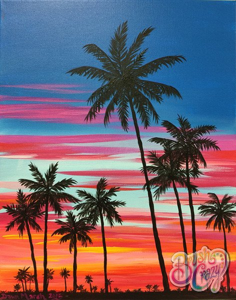 Palm Tree Tequila Sunrise