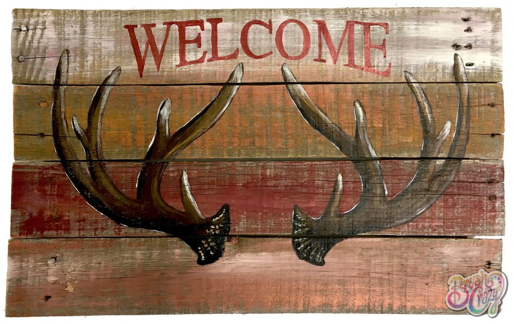 Antlers Welcome - Guided Open Paint
