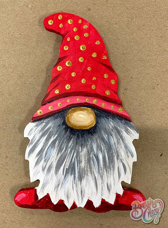 Gnome with Red Hat cutout - Guided Open Paint