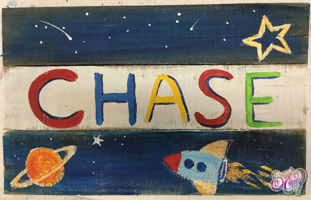 Personalized Name Sign - Space for Kids!