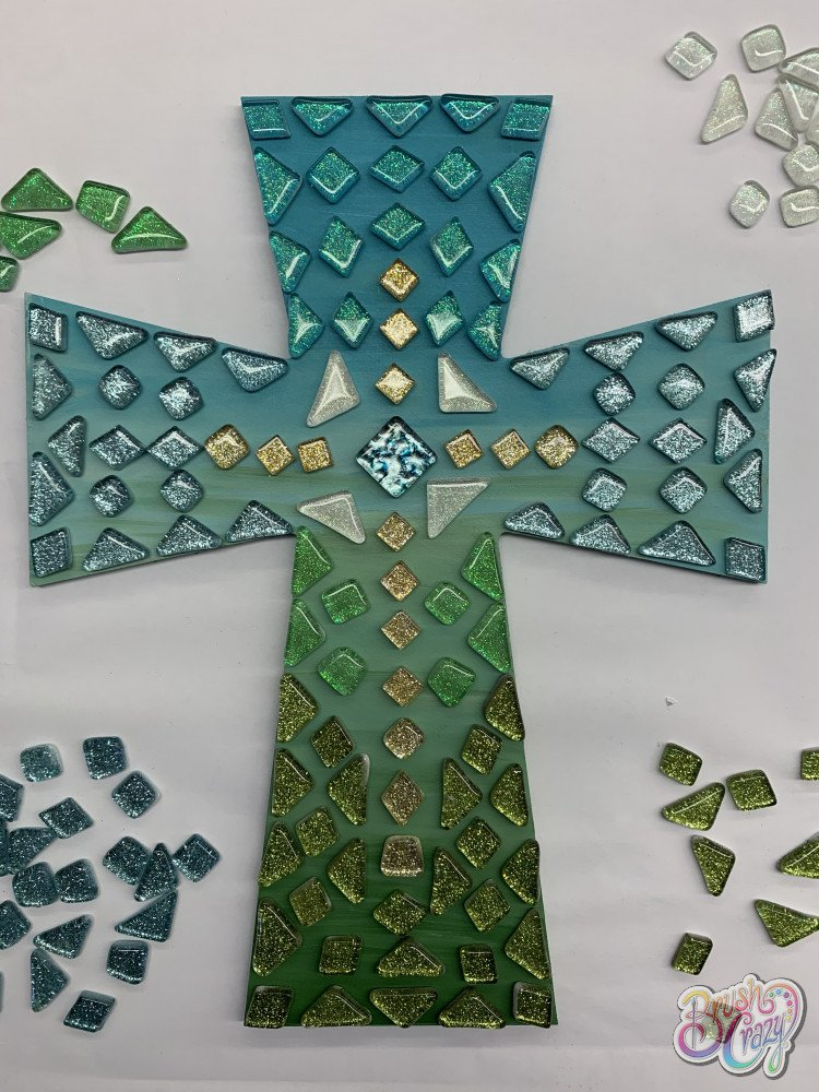 Cross painted Mosaic