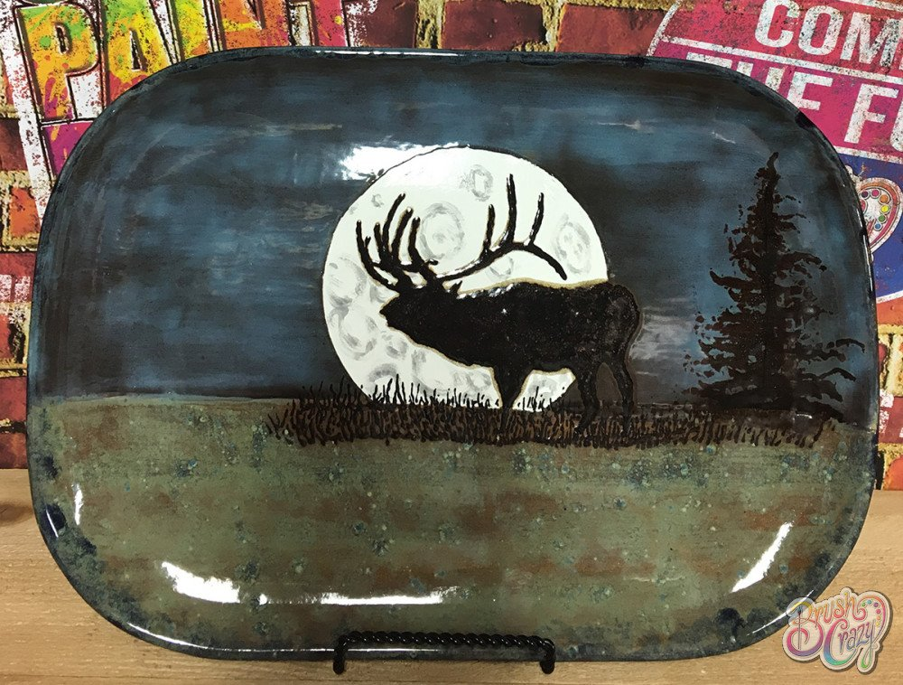 Elk Moon with Pine Tree