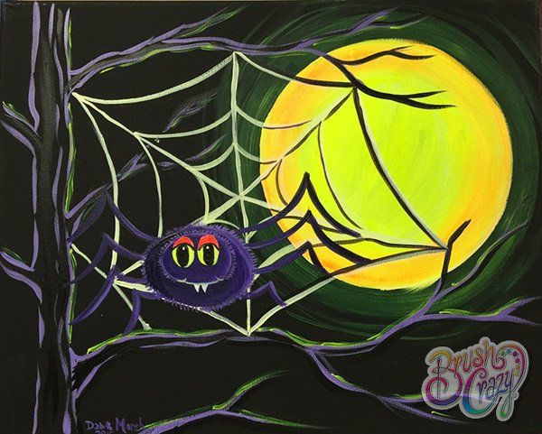 Spider in Tree with Moon