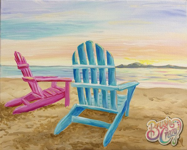 Adirondack Chairs - Guided Open Paint
