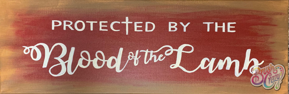 Blood of the Lamb on Canvas