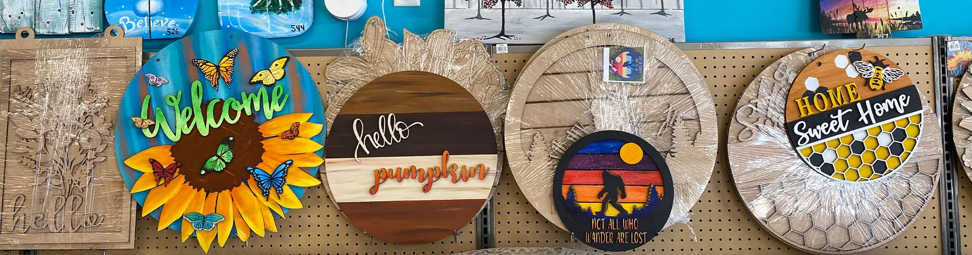 Brush Crazy Wood Signs
