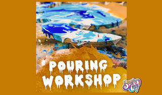 Pouring Workshop - Fluid Art- Date Night