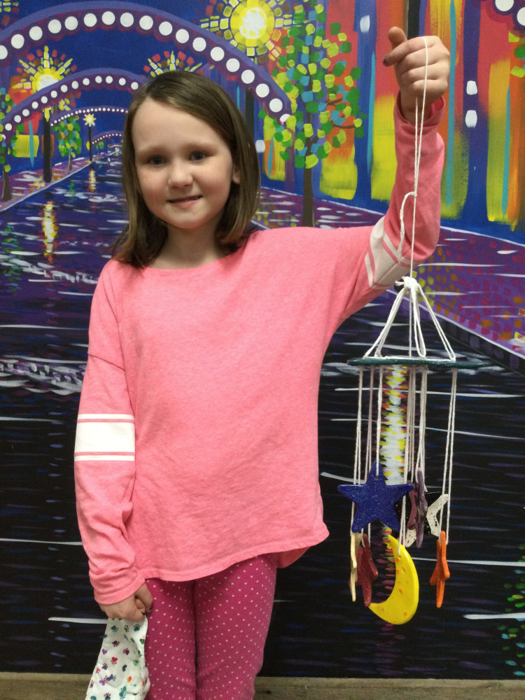 Youth Wind Chime Making Class Clay Workshop 7-9 yr olds 3rd Session